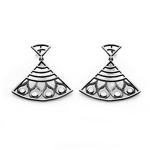 Hera's Strength Earrings   Oxidised Sterling Silver 925°