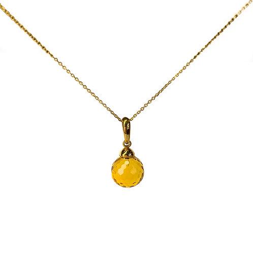 Κολιέ IRIΔA DROPS | Σιτρίν ανοιχτό πορτοκαλί - Χρυσός K18