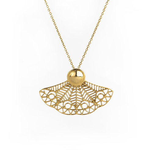 Delicate Wing Necklace | Gold Plated Sterling Silver 925°