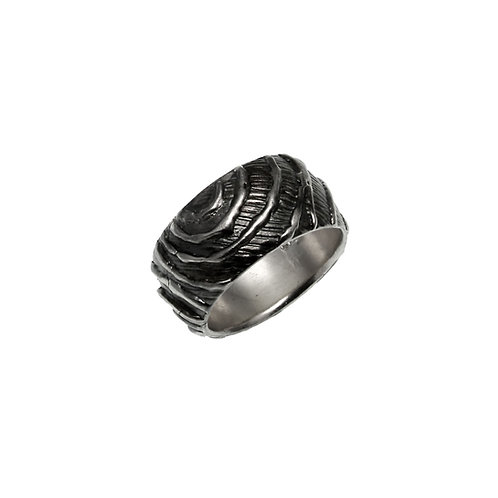 Ring Waves | Sterling Silver 925° Oxidised Finish