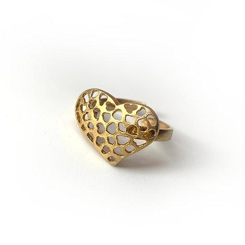 Δαχτυλίδι Lace Heart | Επιχρυσωμένο Ασήμι 925°