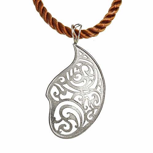 Big Paisley Necklace Kentimata | Sterling Silver 925°