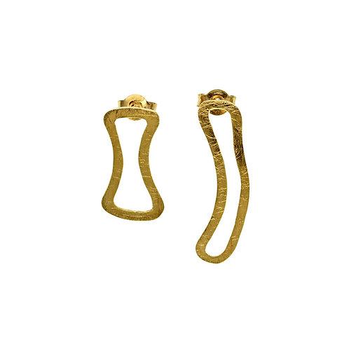 Σκουλαρίκια Frames | Χρυσός Κ14