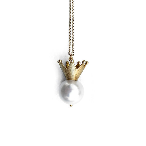 Pendant | Sterling Silver 925° Gold Plated Mother Of Pearl (M.O.P.)