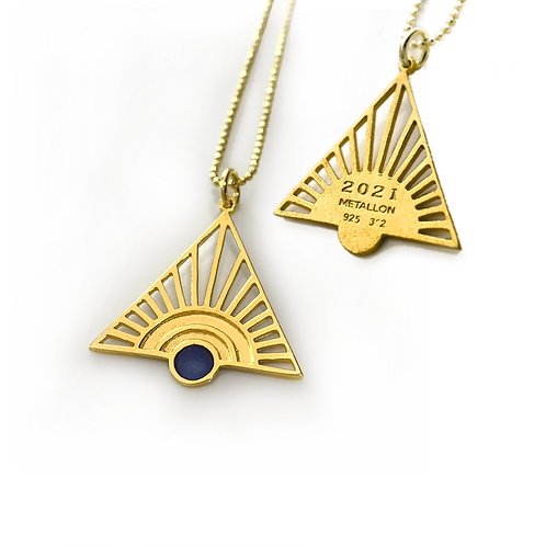 Lucky Charm 2021 - Sunrise | Gold Plated Sterling Silver 925° with Blue Enamel