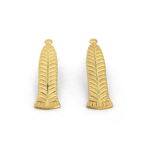 Σκουλαρίκια Braid Drops | Επιχρυσωμένο ασήμι 925°