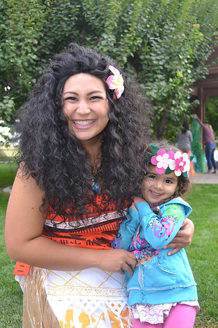 Moana and child
