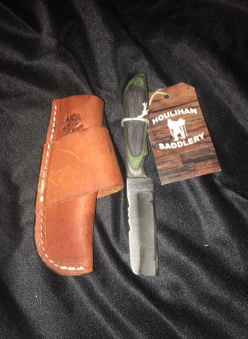 Anza Knives (751) Nute-Black/Green Knife