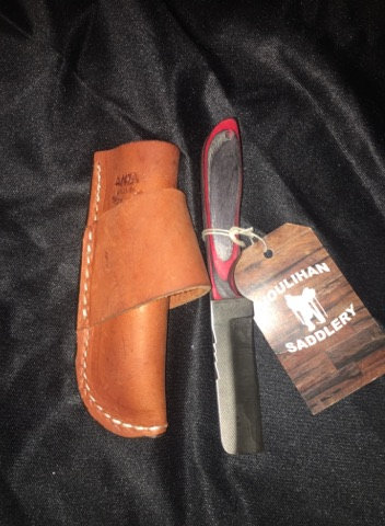Anza Knives (752) Nute-Black/Red Knife
