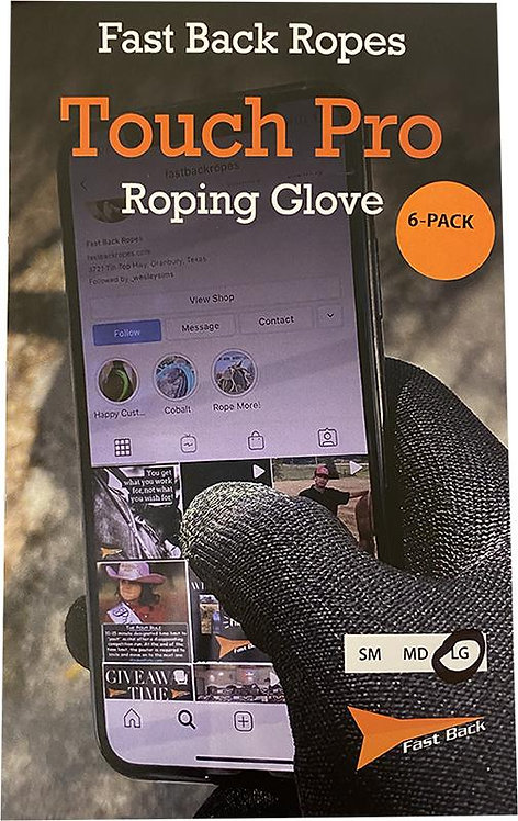 Fast Back Ropes Touch Pro Roping Gloves