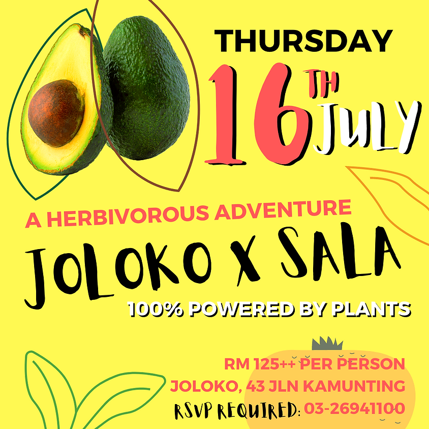 JOLOKO X SALA : A Herbivorous Adventure