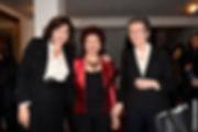 Astrit Baltsan avec Mme Beatrice Rosenber de Rothschild apres la concert de l'Hatikva pou Yad Layeled, Decembre 2015