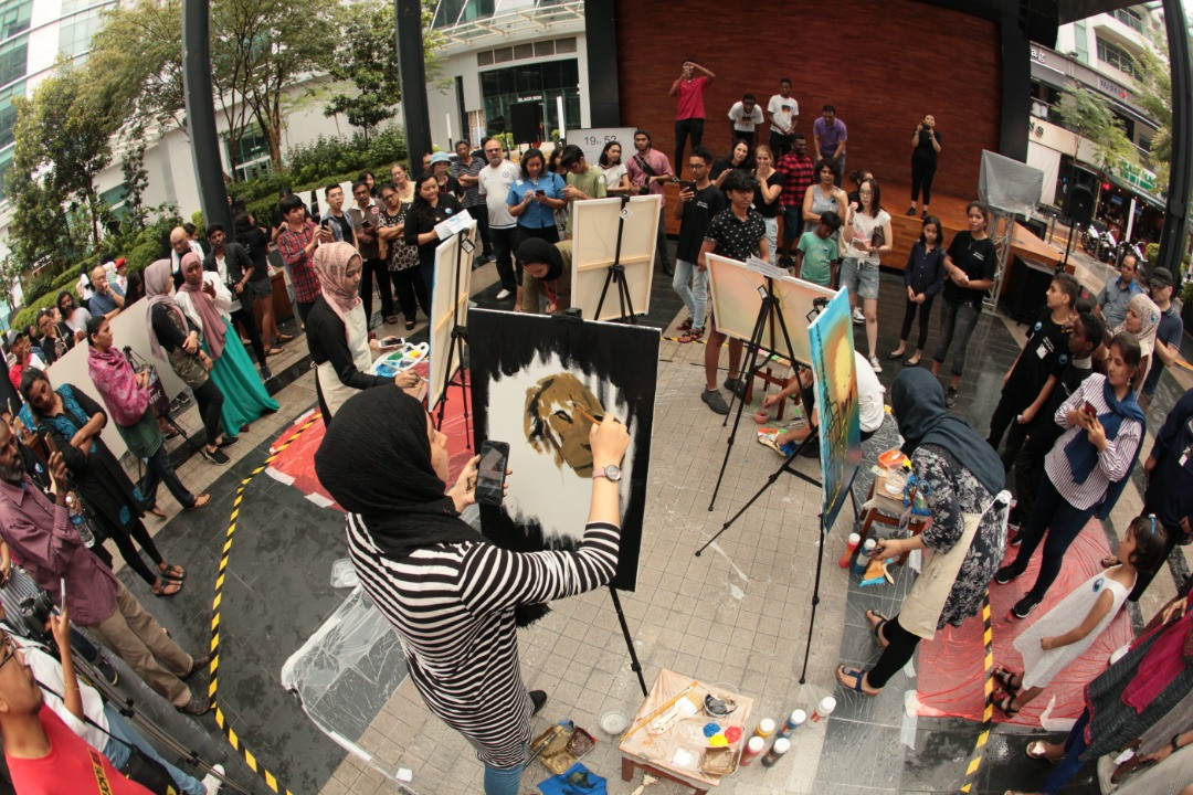 Art Battle Malaysia 4 event collaboratio