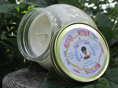 Exotic Sunrise | Amber and Cedarwood | 12oz. Globe Jar Soy Candle
