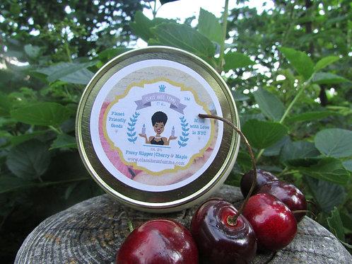 Fuzzy Slipper | Cherry and Maple | 12oz. Globe Jar Soy Candle