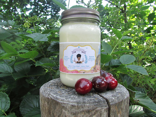 Fuzzy Slipper | Cherry and Maple | 16oz. Soy Candle