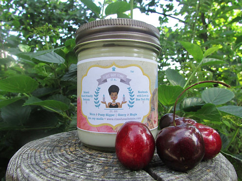 Fuzzy Slipper | Cherry and Maple | 8oz. Soy Candle