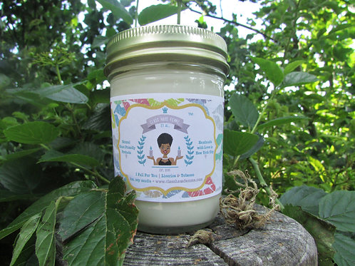 I Fall For You | Licorice and Tobacco | 8oz. Soy Candle