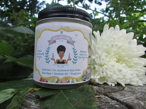 Daydream | Sandalwood Scented | 4oz. Whipped Raw Shea Butter and Coconut Oil