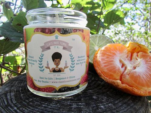 Zest For Life | Bergamot and Citrus | 4oz. Soy Candle