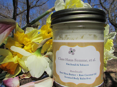 Patchouli & Tobacco   Whipped Body Balm 8oz.   Essential Oil Blend