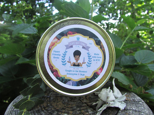 Caught in the Moment | Eucalyptus and Sage | 12oz. Globe Jar Soy Candle