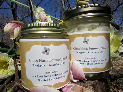 2 Mixed Essential Oil Blend Body Balms   Pick Your Fragrance    4oz. & 8oz.