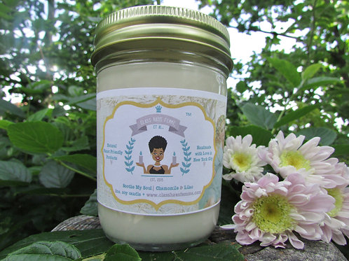 Soothe My Soul | Chamomile and Lilac | 8oz. Soy Candle