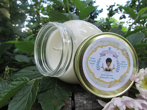 Soothe My Soul | Chamomile and Lilac | 12oz. Globe Jar Soy Candle