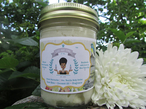 Sweet Surrender | Vanilla Scented | 8oz. Whipped Raw Shea Butter and Coconut Oil