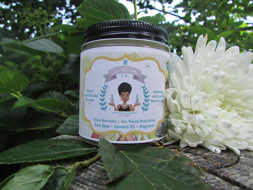 Sweet Surrender | Vanilla Scented | 4oz. Whipped Raw Shea Butter and Coconut Oil