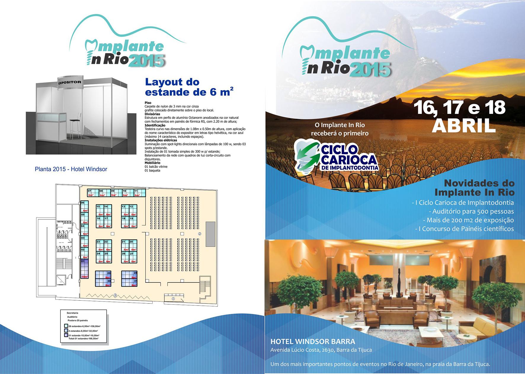 Capa catálogo Implante In Rio 2016