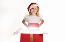 Foto Infantil Caixa de Presente Nata