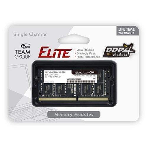 Team Elite 8GB No Heatsink (1 x 8GB) DDR4 2666MHz SODIMM System Memory