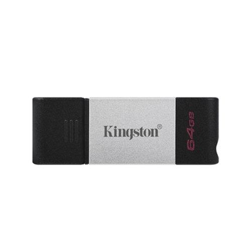 Kingston DataTraveler 80 64GB USB 3.2 USB-C Metal Grey / Black USB Flash Drive