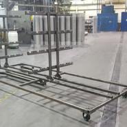 Mild steel aging rack
