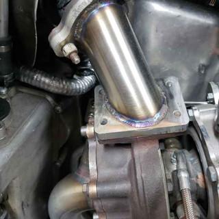 Repair work on sled exhaust