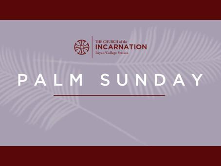 Palm Sunday & Holy Week 2020