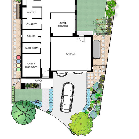 New build house and garden - low maintenance, high impact front garden