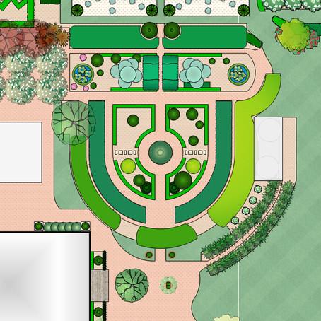 Formal gardens - symmetrical planting style