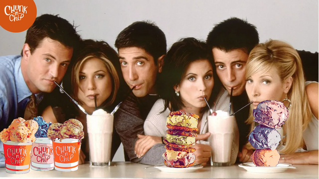 Friends - I'll be there for ice cream.