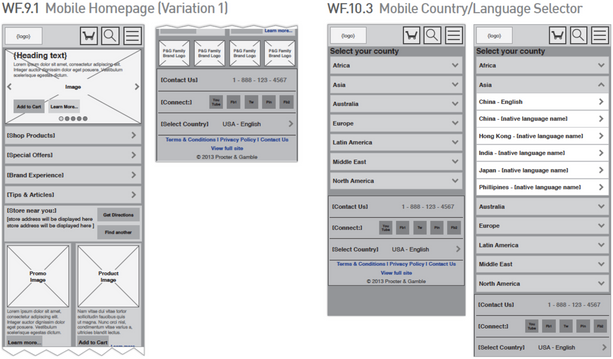 Mobile Wireframes 1