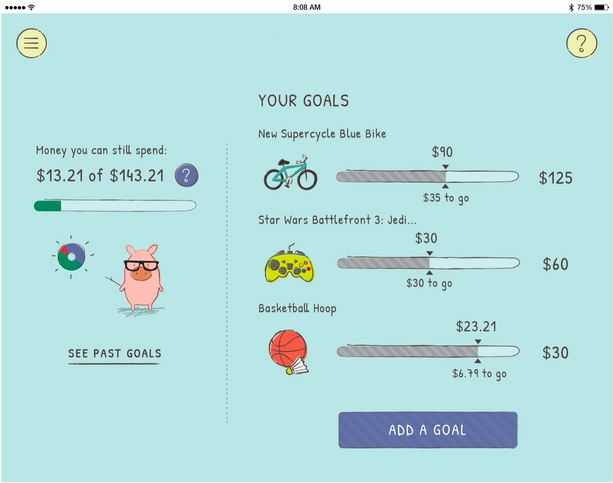 Child View - Goals (Tablet)