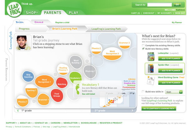 Learning Path - Parent View