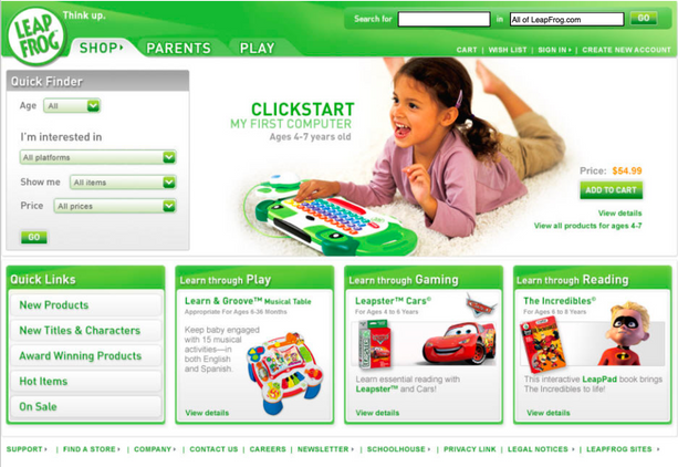 Shop Home Page