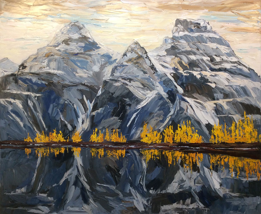Reflections, Valley of 10 peaks-40x