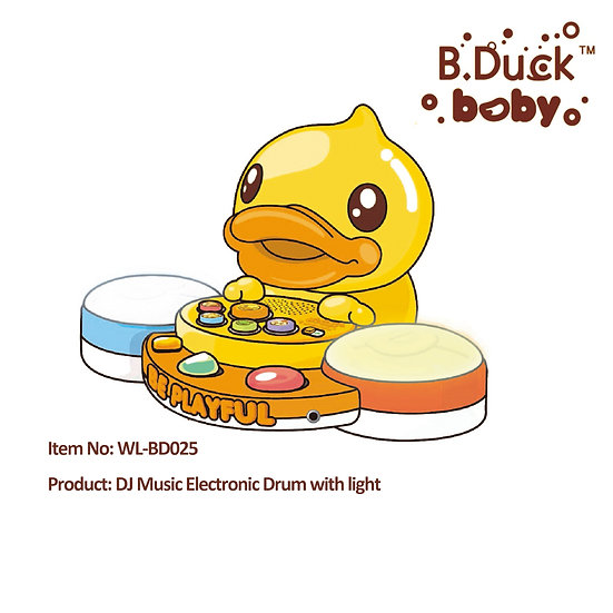 B.Duck - DJ Music Electronic Drum with light No.WL-BD025