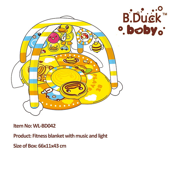 B.Duck - Fitness blanket with music and light No.WL-BD042