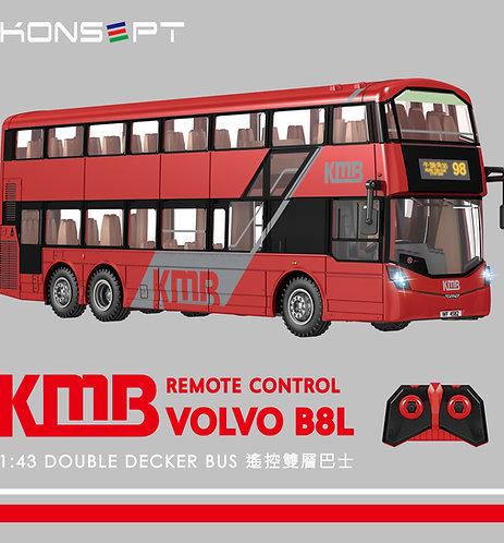 K800 - KONSEPT 1:43 KMB Volvo B8L 遙控雙層巴士