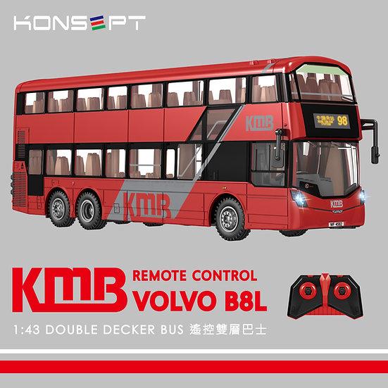 (預購) K800 - KONSEPT 1:43 KMB Volvo B8L 遙控雙層巴士